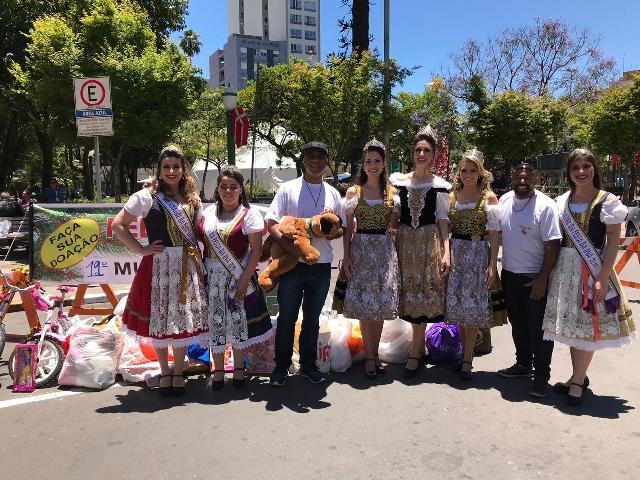 Soberanas e embaixatrizes intensificam  divulgação da Festa da Uva 2019