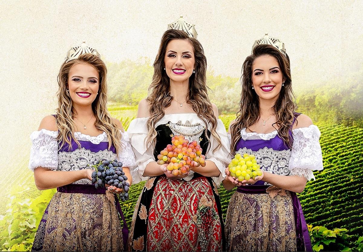 Rainha e Princesas da Festa da Uva 2022 serão conhecidas dia 26 de junho