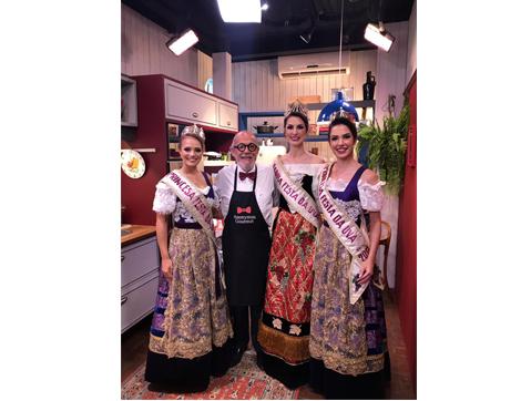 Soberanas da Festa da Uva 2019 gravam programa Anonymus Gourmet 8a6b7424c90d