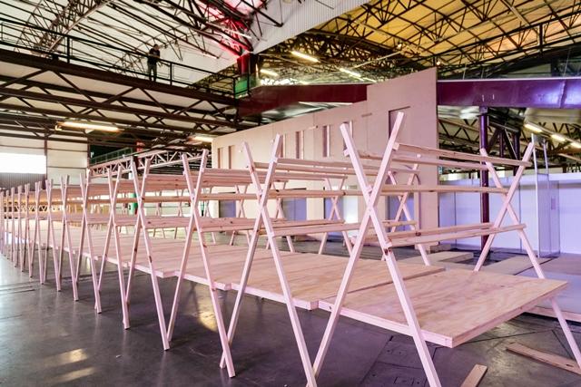 Montagem de estandes começa a dar forma à Festa da Uva 2019 nos Pavilhões