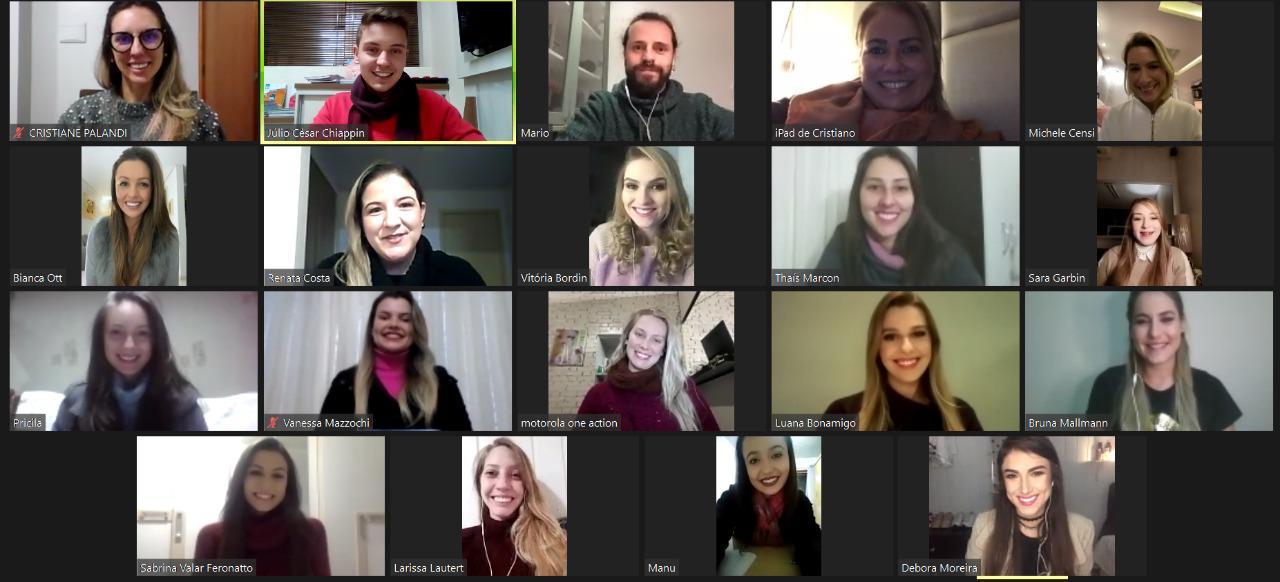 Candidatas da Festa da Uva seguem intensa agenda de encontros on-line