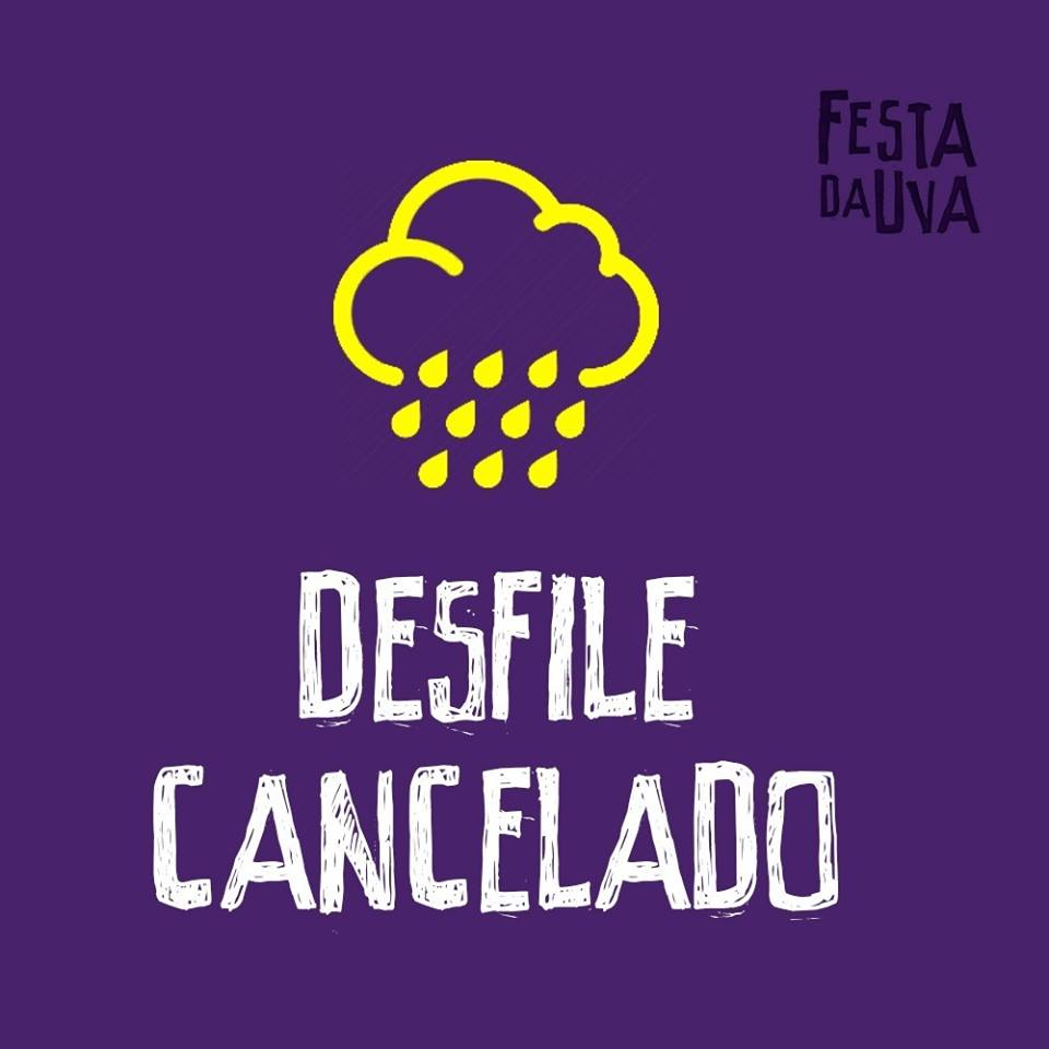 Desfile artístico deste domingo é cancelado